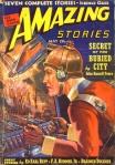 """A """"Amazing Stories"""", em capa dos Anos 30, mostrando """"engenhocas tecnológicas"""" avançadas para a época..."""